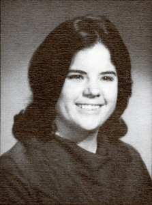 1969 yearbook picture of Christine Bertero Landis, the first woman to graduate from Loyola University with an engineering degree.