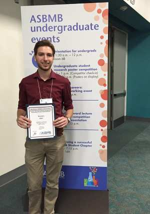 Klein PosterAward EB2016 600x856 - Sophomore Honored at Biochemistry and Biology Competition