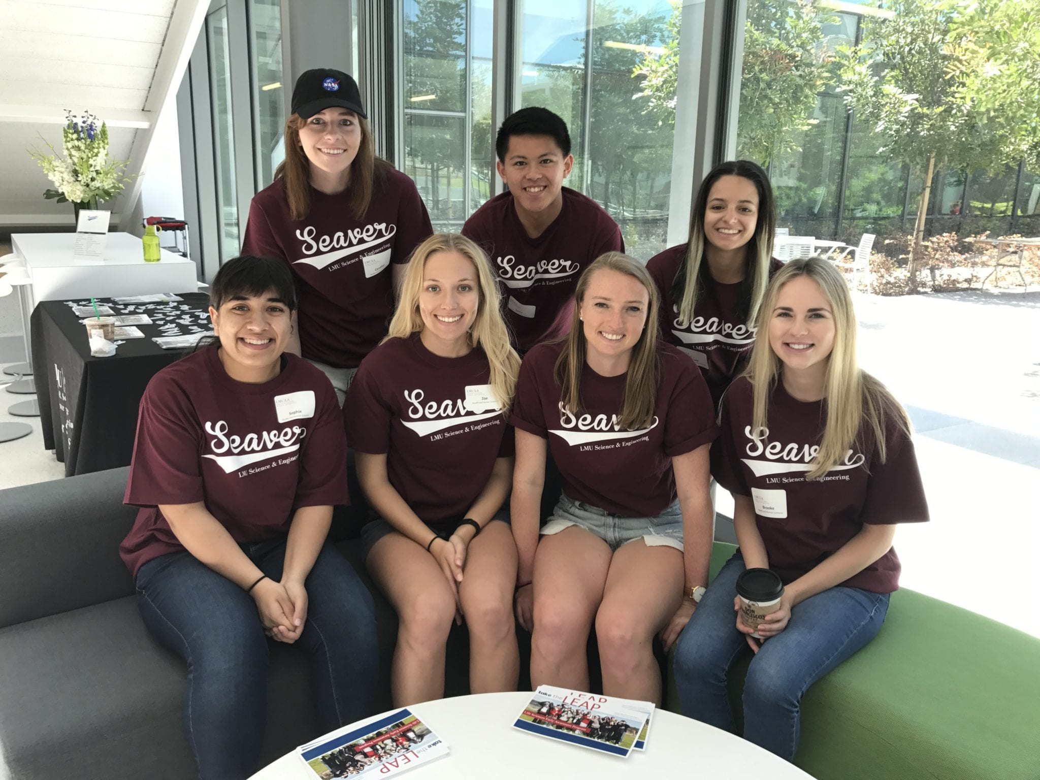 HHSC student helpers smiling for a photo