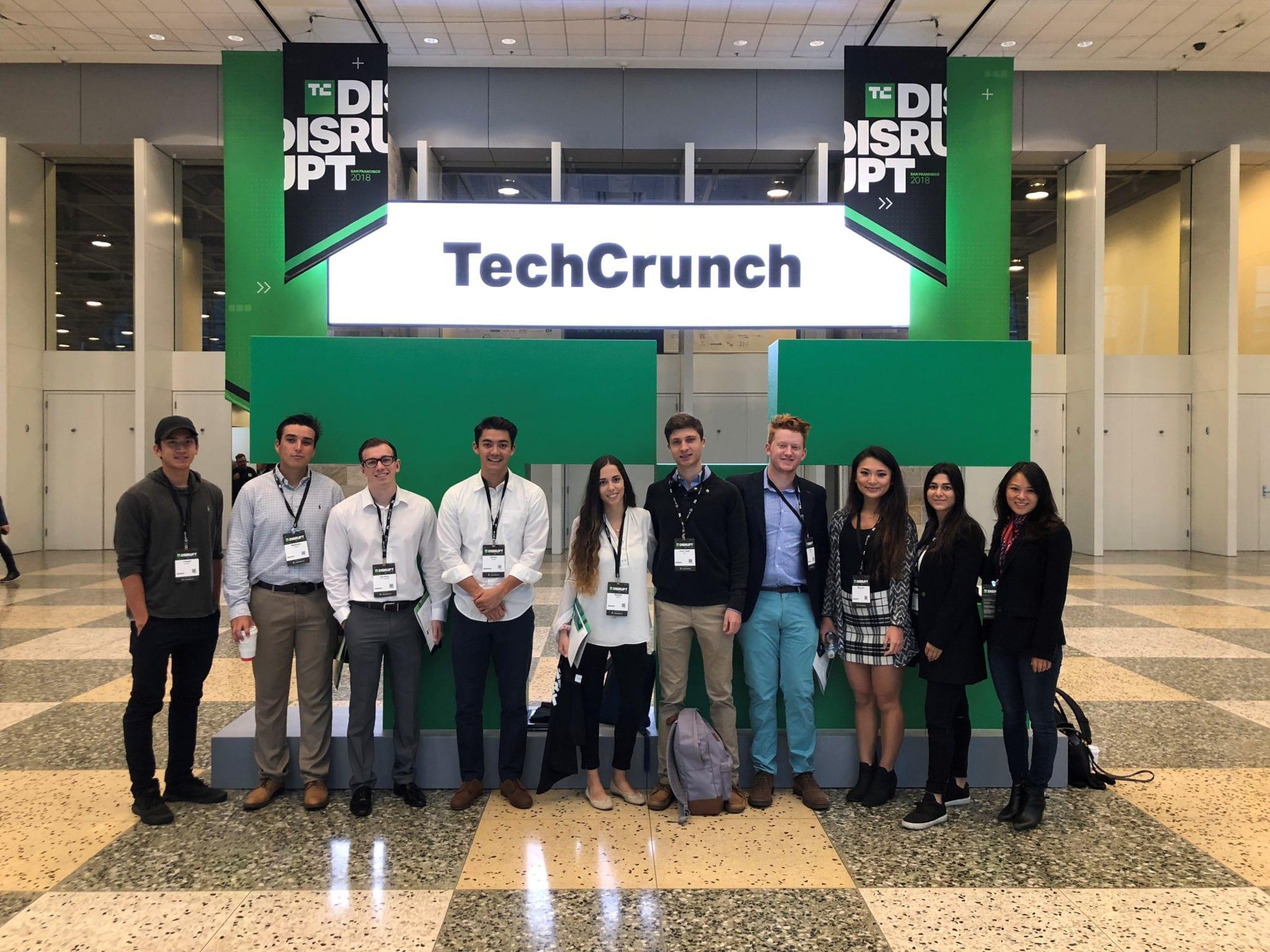 LMU's delegation at TechCrunch