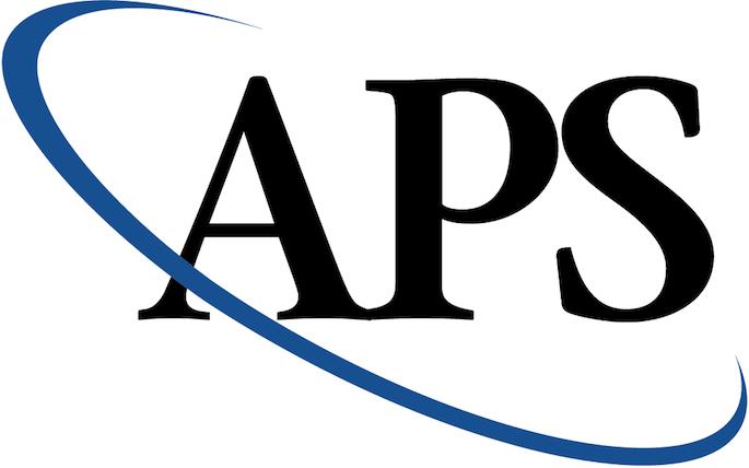 APS logo - American Physical Society Honors Senior with Award