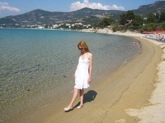 Песчаный пляж Гластрес