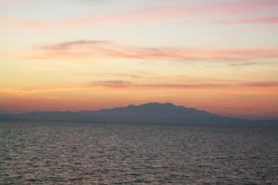 Delicate sunset colors, Aegean Sea, Palio Kavala, Greece