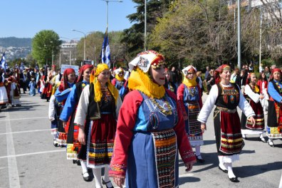 Parade on 25 March in Kavala, Evrites Club of Kavala