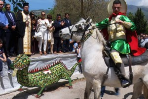 Saint George slaying a Dragon – a Custom in Serres