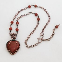 Red heart pendant