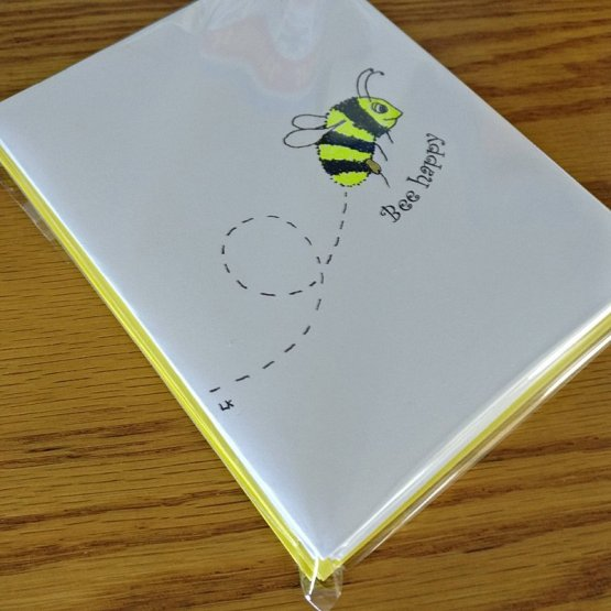 Bee Card set in cello wrapper