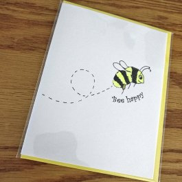 Bee Happy card in cello wrap