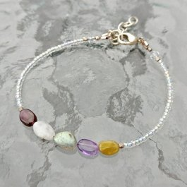 Delicate Five Gemstone Bracelet