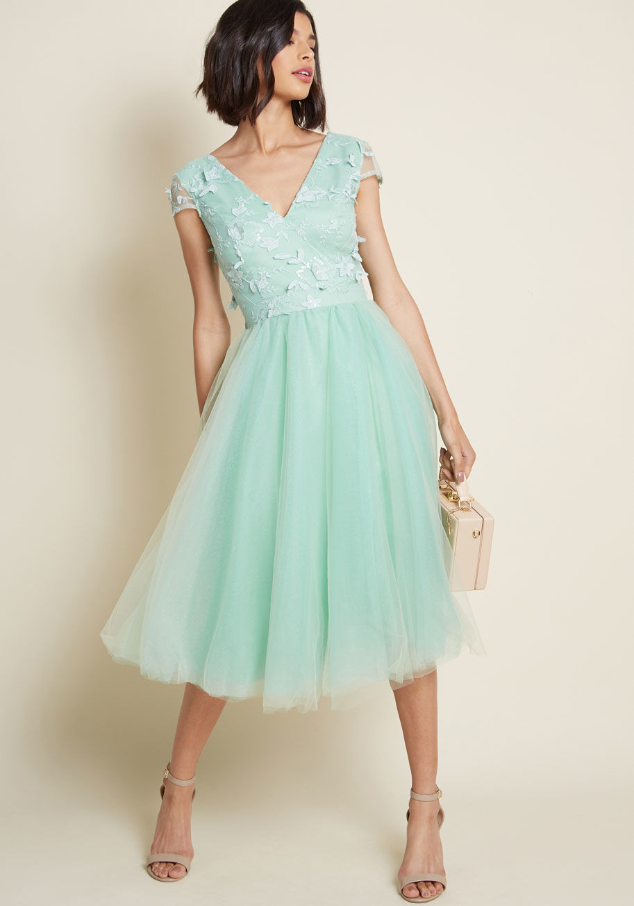 Chi Chi Mint Tulle Dress