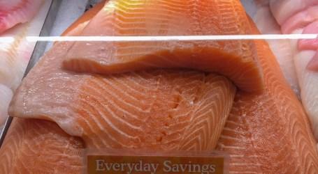 Farm-raised Atlantic salmon at Whole Foods Market