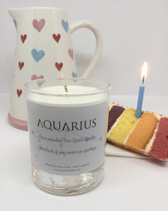 AQUARIUS Birthday Candle - Seawitch Candles