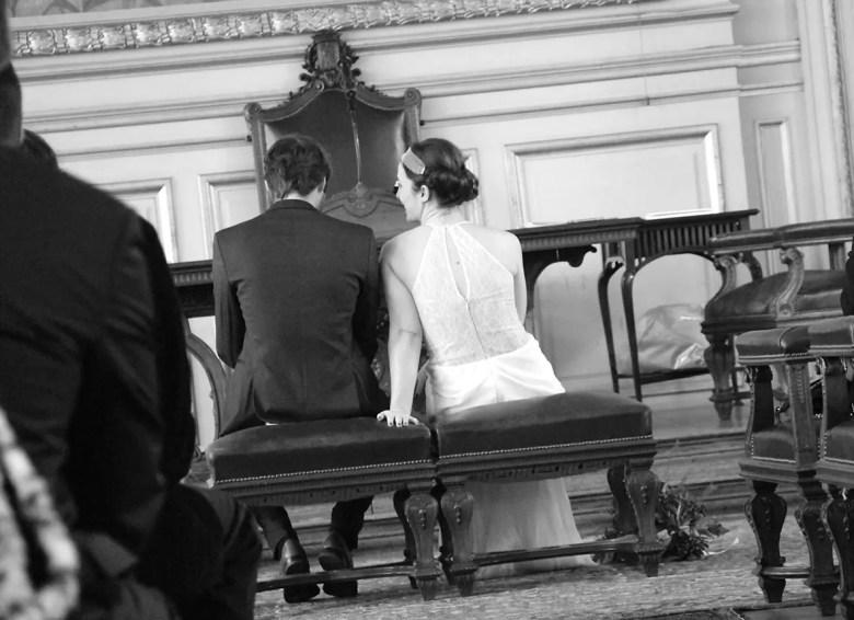 mariés de dos