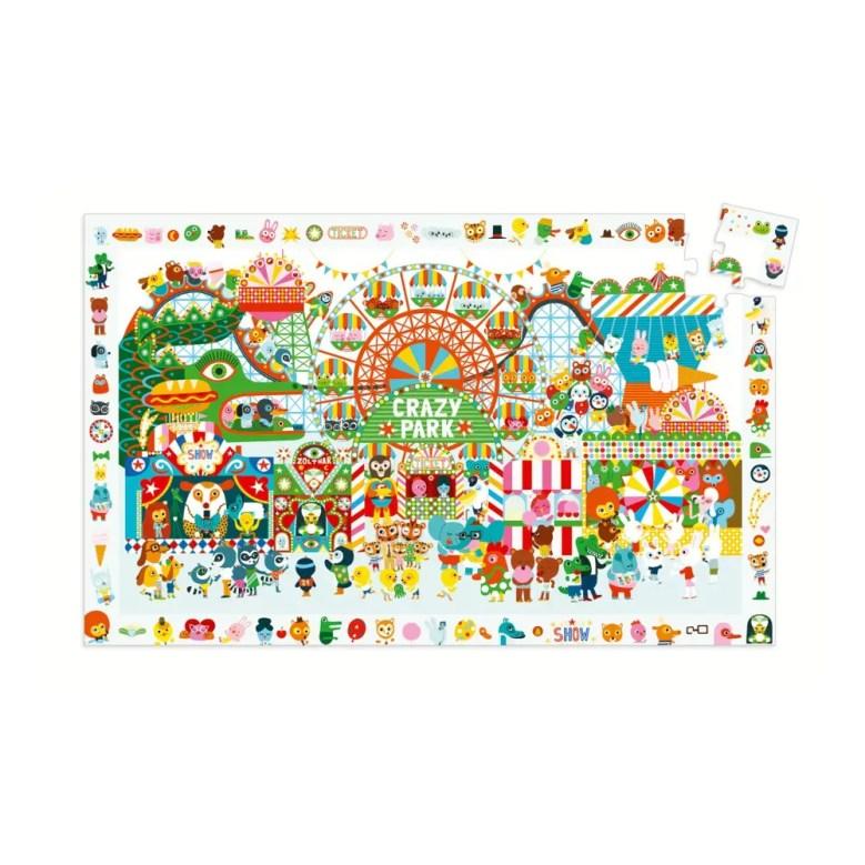 Puzzle parc d'attraction de Djeco