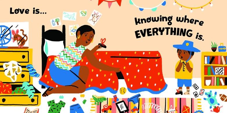 Extrait du livre pour enfant Love Makes a Family