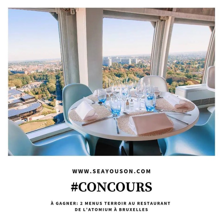 Concours restaurant de l'Atomium sur Instagram
