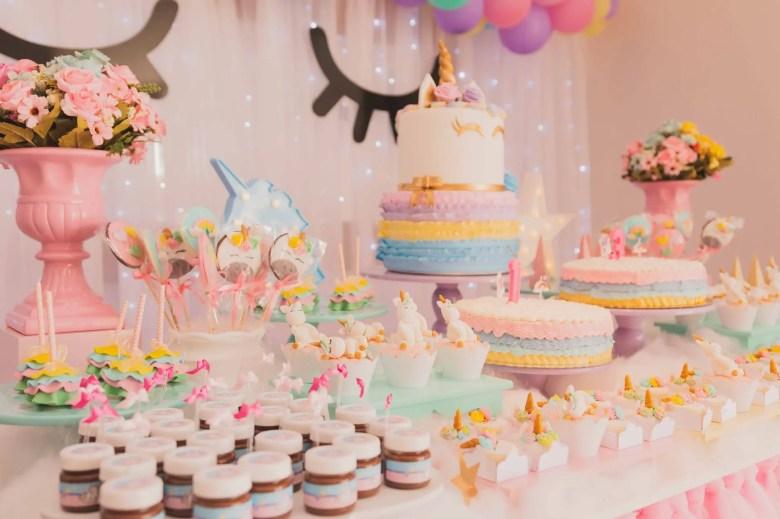 anniversaire enfant buffet licorne