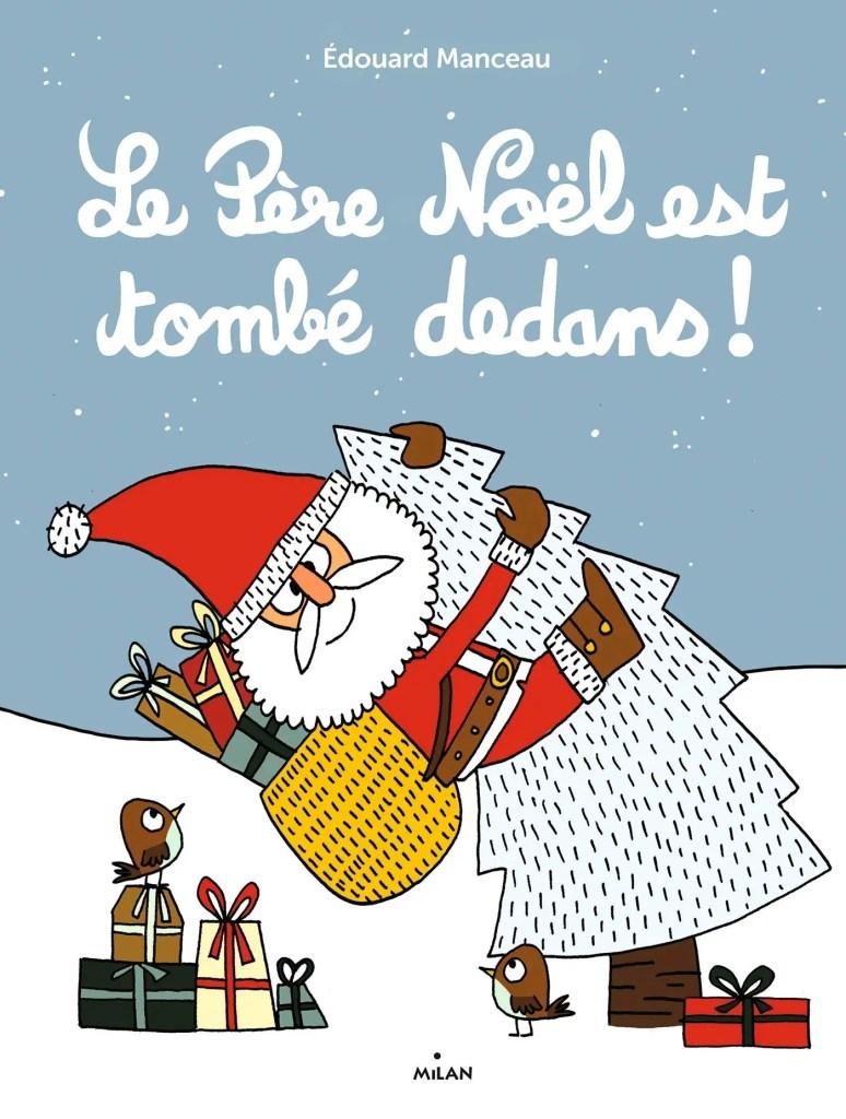 Père Noël est tombé dedans lièvre Noël enfant
