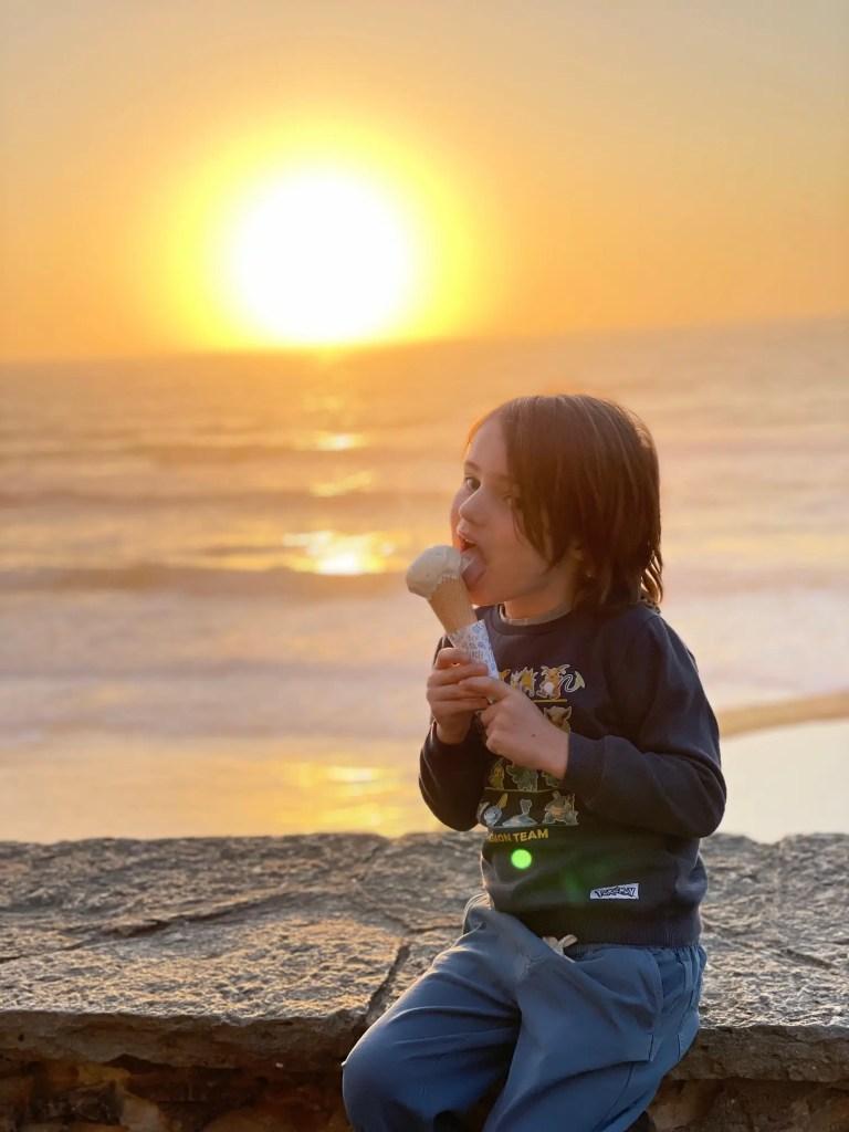 prenez une glace à agua el sol à azenhas do mar au portugal