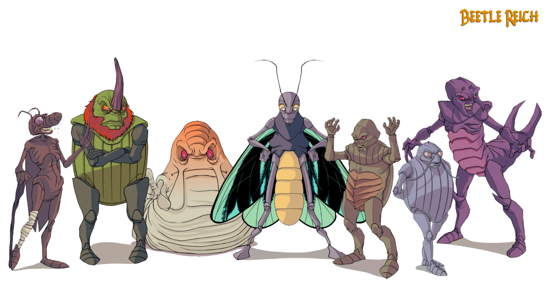 Beetle Reich - Characters