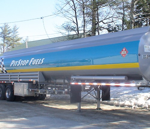 Sebago Signworks oil truck wrap
