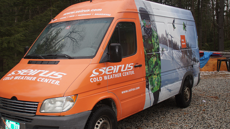 Sebago Signworks Seirus vehicle wrap