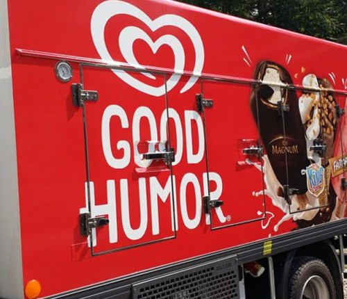 Good Humor freezer truck car wrap