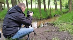 Im Wald bei Wachenheim. Danke Matthias für das making-of Bild