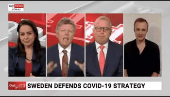 Sky News interview with Sebastian Rushworth about covid-19 in Sweden