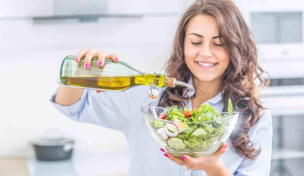 Mediterranean diet olive oil salad