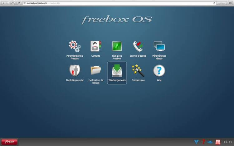 Freebox revolution interface freebox OS