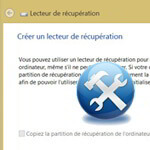 Lecteur e recuperation Windows 8