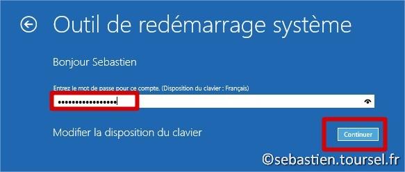 Tentatives de réparation Windows 8.1 Password