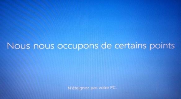 Windows 8.1 Ecran noir - Finalisation installation