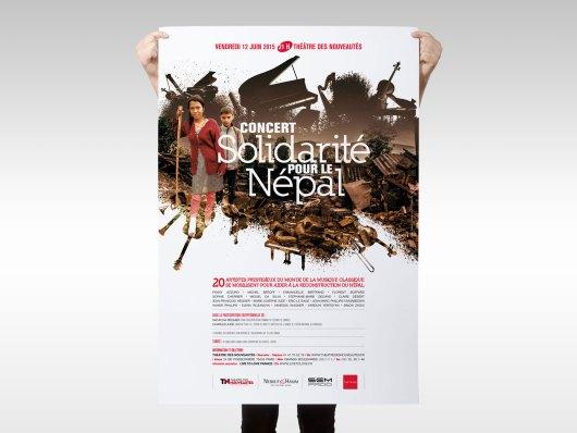 Affiches de l'événement solidarité pour le Népal par Live To Love
