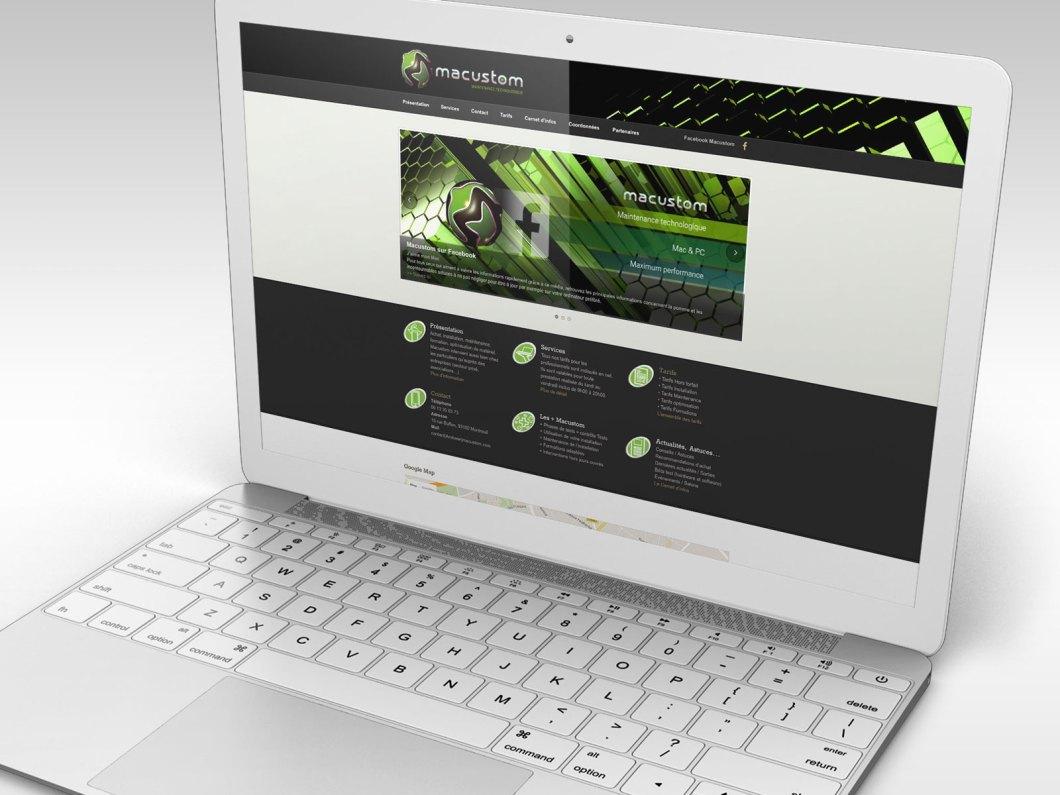 Site WordPress de l'entité Macustom