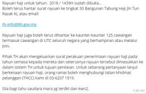 Surat Rayuan Haji Tabung Haji Malacca U