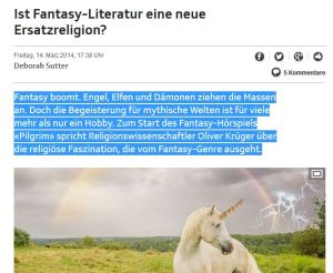 fantasy religion