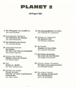 planet 2 Inhaltsverzeichnis