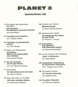 planet 3 Inhaltsverzeichnis