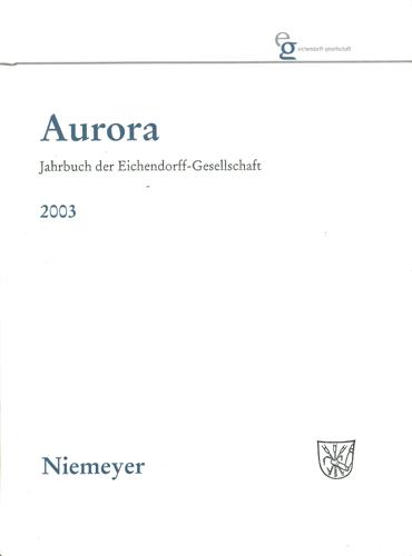 Jürgen Daiber u.a. (Hrsg.) - Aurora Jahrbuch 2003