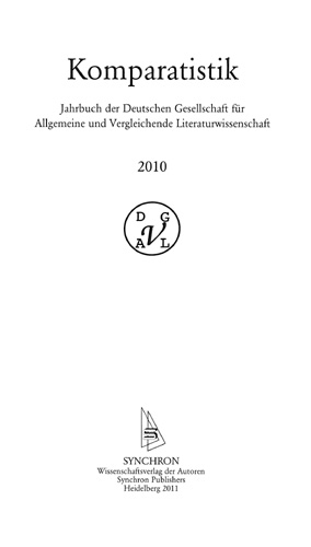 Archim Hölter (Hrsg.) - Komparatistik-Jahrbuch 2010
