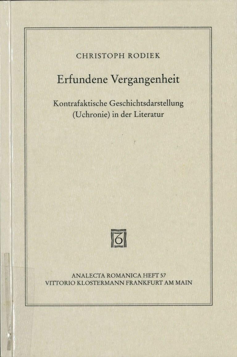 Erfundene Vergangenheit - Titelcover