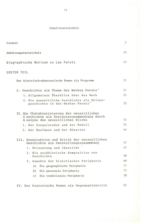Erinnerung und Schrecken - Inhalt Seite 1