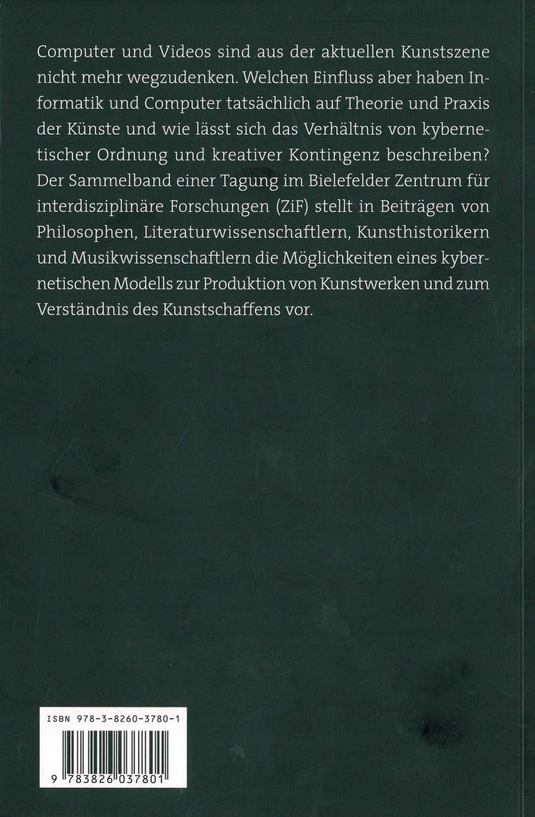 Ordnung und Kontingenz - Rückencover