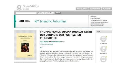 Thomas Morus' Utopia und das Genre der Utopie in der Politischen Philosophie