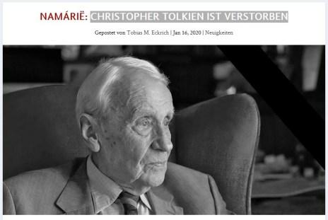 Christopher Tolkien verstorben