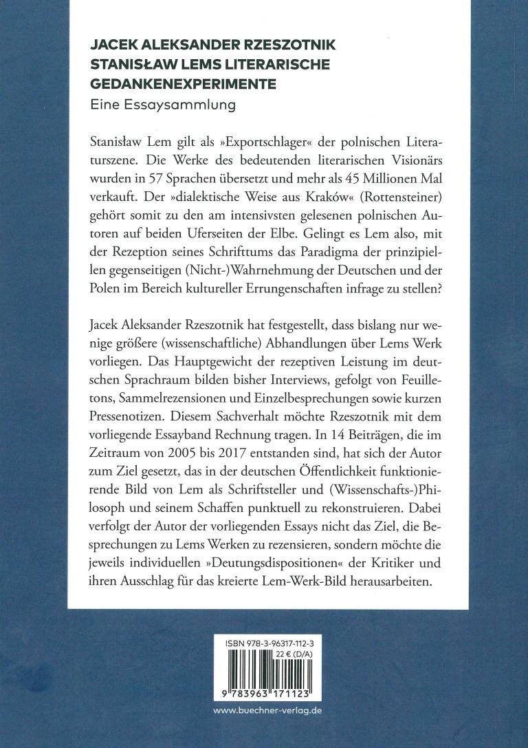 S. Lems literarische Gedankenexperimente - Titelcover