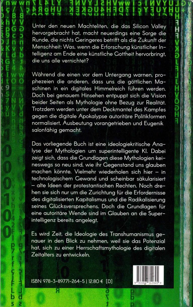 Transhumanistische Mythologie - Rückencover