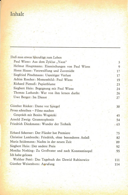 Neue deutsche Literatur, 7/82 - Inhalt Seite 1